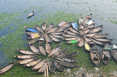 Resting boats! (ashik mahmud 1847) Tags: bangladesh river water boats group people pattern green circle