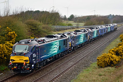 88006 88009 88010 68027 88007 68026 66421 0Z85 Workington (British Rail 1980s and 1990s) Tags: train rail railway loco locomotive lmr londonmidlandregion mainline cumbria livery liveried diesel traction 66 68 88 class66 class68 class88 drs directrailservices electrodiesel electric ac electra aurora diana juno 88006 88009 88010 68027 88007 68026 66421 0z85 convoy cumbriancoast new delivery railroad