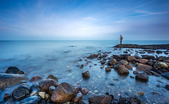 Fisherman´s Blues (Kurt Evensen) Tags: norway longexposure bigstopper beach sea smooth leefilter le water tønsberg sky seascape rockyshore weather vestfold shore no fisherman fishing