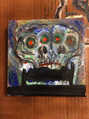 """Nightmare"", 6x6, acrylic paint on canvas"