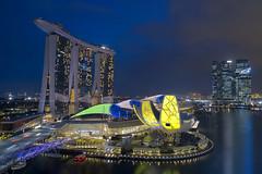 Space Station (Mabmy) Tags: singapore ilight2017 exhibition marinabay marinabaysands art science museum asm lotus casino helix bridge evening night buildings architecture cityhall cityscape esplanade cbd mavic mavicpro