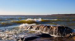 April sea (Joni Mansikka) Tags: spring nature sea waves rocky shore shoreline seascape woodland trees horizon outdoor coast blueskybalticsea kallo mäntyluoto pori suomi suomi100 finland finland100