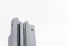 Frankfurt Deutsche Bank (IseeCanonshoots) Tags: frankfurt commerzbank white skyline surreal black minimal