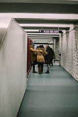 End (Comrade Yoldas) Tags: montreal subway metro groups people discover sonder experience