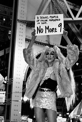 Trans Liberation March (draketoulouse) Tags: chicago loop street streetphotography people monochrome blackandwhite night activist activism protest