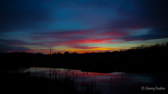 Embers of the day (JKmedia) Tags: silhouette boultonphotography glastonbury somerset lake rspb sky late evening sunset dusk 2017 fade clouds scape landscape