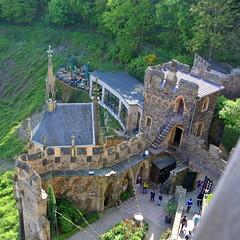 Blick Vom Turm (ivlys) Tags: rhein fluss rhine river burg castle rheinstein burghof innerward landschaft landscape nature ivlys