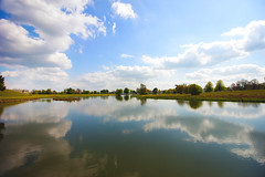 Reflective lake (Ollie Barr) Tags: lake reflection petworth house stately home manor clouds cloudporn canon 550d eos didgital slr 1018mm lense lens wide angle ultra wideangle sunny day nature natural