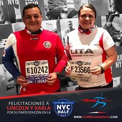 ¡Felicitaciones a Lincoln Serrano y Karla Campos por su gran participación en la New York City Half Marathon! Muy contentos de ver que el esfuerzo y el empeño que han puesto en su proceso de entrenamiento da grandes frutos. ¡A celebrar que se lo tienen bi