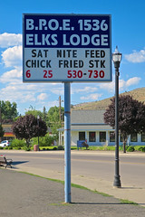 Elks Lodge, Lakeview, OR (Robby Virus) Tags: lakeview oregon or elks lodge sign signage fraternal organization bpoe benevolent protective order 1536