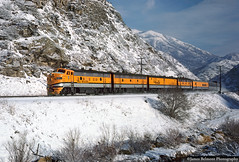 The Trains Don't Pass Through Here No More (jamesbelmont) Tags: drgw 5771 f9 rgz thistle utah train railroad locomotive passenger snow mountains wasatch