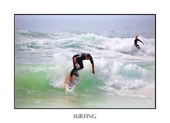 Surfers riding waves  enjoying the beaches (sugarbellaleah) Tags: surfers waves surfboard wetsuit people active water sport enjoyment fun recreation bech leisure motion vacation holiday summer man balance wet action fitness boy kids sea ocean nature