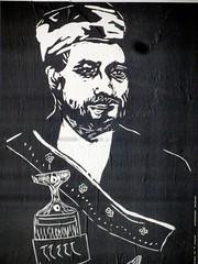 Street Art-004 (Quetzalcoatl002) Tags: streetart weird posters amsterdam urban monochrome blackandwhite personages