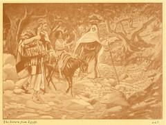 """James Tissot Bible c 1900 The return from Egypt from """"La Vie de Notre Seigneur Jésus Christ"""" (Phillip Medhurst) Tags: tissot jamestissot matthewsgospel bible egypt return exile refugee holyfamily"""
