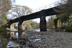 railway (Lord Edam) Tags: river afon llugwy conwy wildlife morning water rocks fields bridge engineering