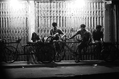 Depict Us (N A Y E E M) Tags: workers labourers rickshawvan rest lastnight pavement footpath street light norahmedroad chittagong bangladesh availablelight carwindow