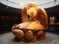 The sculpture- Raven and the First Men by Bill Reid- in yellow Cedar represents the Haida legend of the Raven discovering men in a clamshell. Displayed at the Museum of Anthropology at the University of British Columbia in Vancouver, Canada. #sculpture #V (Anil.Yadav1) Tags: ubc anthropology raven picoftheday haidalegend universityofbritishcolumbia britishcolumbia vancouver canada climberexplorer billreid sculpture photooftheday