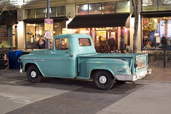 Pickup (Curtis Gregory Perry) Tags: boise idaho 1957 chevy chevrolet pickup truck old blue green night longexposure 8th street downtown nikon d810