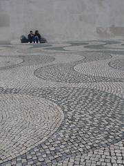'Wide Ocean' cobblestones (AJoStone) Tags: portugual lisbon belem cobblestone
