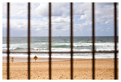 FEAR (Anita Waters) Tags: newport beach bars beachclosed strongcurrent ocean northernbeaches fearisaprison mydaytoday