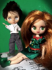 Blythe-a-Day#17. St. Patrick's Day, Past&Future: Ginnie&Eli