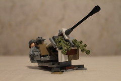 3.7 cm Flak 36 in Winter Camo (BlitzBuilderPro) Tags: 37 cm lego winter ww2 german antiaircraft gun camo eastern front