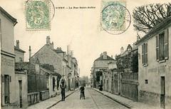 Carte-Postale-VITRY-SUR-SEINE-La-Rue-Saint (gpmetropole) Tags: cpa vitry port à l anglais edf centrale electrique ardoines