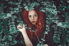 Antonella (Grazia Mele) Tags: red hair freckles mood fashion redhair rebel ivy grass 50mm nikond750