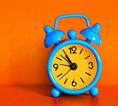 TICK TOCK! (Through Serena's Lens) Tags: clock small orange blue colorful bright stilllife 7dwf macro