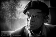 DSC00927 (lisamhansen2) Tags: fav wassili lepanto artist black white beret man light shadow
