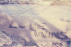 52 Week Project - Week Sixteen (MarianneLoMonaco) Tags: words writing sand beach love wins positive lakesimcoe mariannelomonaco spring water shadows morning light