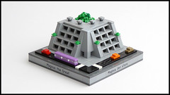 Brutalist Terrace Apartment Building (Magnus the Great) Tags: lego microscale micropolis swebrick pluppsala
