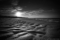 Ride into the sun (Craigdrezek.com) Tags: beach bnw blackandwhite sand contrast water sky sun rhodeisland new england watchhill napatree serene calming monochrome bw