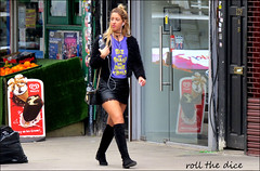 `1940 (roll the dice) Tags: london londonist camden kentishtown chunky chips pretty sexy legs thigh girl skirt fashion shops shopping streetphotography people pvc lace boots natural lick water mad sad hungover uk classic art england urban unaware unknown portrait stranger candid canin tourism dirty rough blonde music headphones talk walk nw1 nw5 icecream nuts reflection