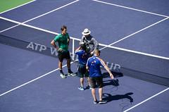 rogerinterview (Purple Cow Pictures) Tags: tennis indianwells tournament desert palmsprings swiss switzerland rogerfederer stanwrawrinka martinahingis sport photography fun moetchandon moment