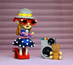 The Girl Who Sings (vir-a-cocha) Tags: lego girl song music disco cutie beauty viracocha