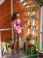 Happy Easter 2017! (barbie for Mary) Tags: barbie mattel doll fashion easter 2017 diorama scene spring pink carl sweettea model rabbit lattern grass bratz colour wheelbarrow mary outfit