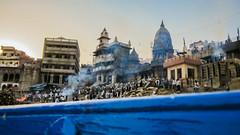 IMG_27539 (Manveer Jarosz) Tags: banaras benares bharat burningghat ganga gangesriver hindustan india kashi manikarnikaghat uttarpradesh varanasi blue boat boatride buildings cremation holy pilgrimage river