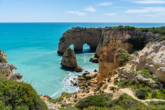 Algarve, Portugal... (jen.ivana) Tags: rock limestone window landscape water sea ocean atlantic erosion coast coastline beach walk sky sun outdoor ngc
