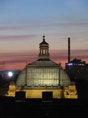 Dome of Art Pavilion, twilight, from Hotel Astoria, Zagreb, Croatia (Paul McClure DC) Tags: zagreb croatia hrvatska balkans feb2017 architecture historic scenery