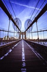 How many photos did I take of this bridge :-) (swigadelica) Tags: pushed1 voigtlanderultron28mm film swigadelica swig newyork brooklynbridge 28mm minoltacle portra400