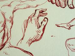 DELACROIX Eugène - Hommes nus,Tête caricaturale, Mains, Jambes (drawing, dessin, disegno-Louvre RF10621) - Detail 06 (L'art au présent) Tags: drawing dessins dessin disegno personnage figure figures people personnes art painter peintre details détail détails detalles dessins19e 19thcenturydrawing croquis étude study sketch sketches frenchpaintings peinturefrançaise frenchpainters peintresfrançais louvre museum paris eugènedelacroix eugène delacroix france pose model man men nu nude naked nudity nudité bare nakedman nakedmen hommenu numasculin femme women woman female nakedwoman nakedwomen femmenue nufeminin nudefemale sensuelle sensual portrait portraits face visage caricature hands hand main jambes legs leg