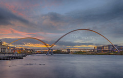 Infinity Bridge sunset (keithdaniel51) Tags: infinity bridge stockton nikon d7200 river sunset clouds