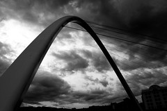 Gateshead Millennium Bridge 1 (red.richard) Tags: bw monochrome gateshead millennium bridge newcastle river tyne