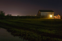 Stillness (rosenunezsmith) Tags: lanecounty night houses building slough fences rural longexposure photos4pny trees creek barn lowlight america oregon farm pacificnorthwest landscapes tractor field