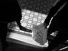 Coming & Going (MacroMarcie) Tags: macromarcie monochrome blackandwhite project365 365 portos bakery selfie self
