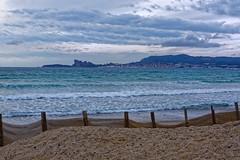 La Ciotat view from Les Lecques (Pantchoa) Tags: laciotat saintcyrleslecques méditerranée mer baie sable eau becdelaigle frontdemer côte côtedazur nuages nuageux vagues îleverte plage leslecques