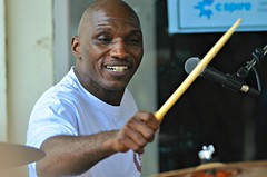 Cedric Burnside at the Juke Joint Festival in Clarksdale, MS (forestforthetress) Tags: cedricburnside drums stage gig concert festival jukejoint jukejointfestival man music musician fun outdoor omot nikon face people blues bluesmusic theblues