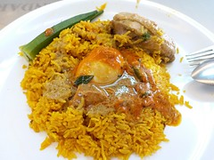 Fragrant Rice With Curry (阿Dex) Tags: rice curry chicken egg ladyfinger nasibryani food yummy