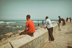 Watching the Atlantic (Fuji and I) Tags: casablanca morrocco travel atlantic alexarnaoudov fujix